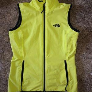 Northface neon vest jacket